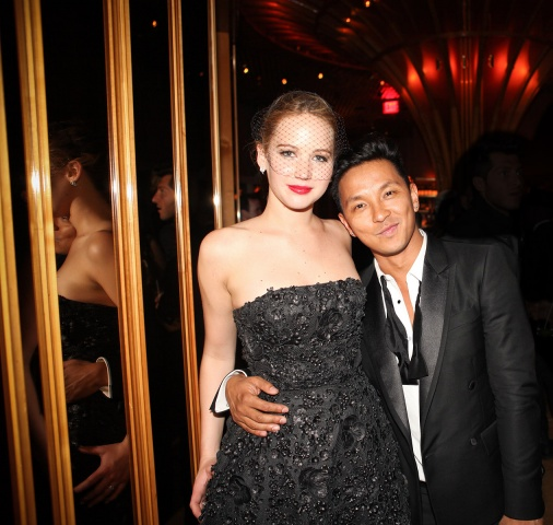 Jennifer Lawrence and Prabal Gurung. Photographed by Leslie Kirchhoff