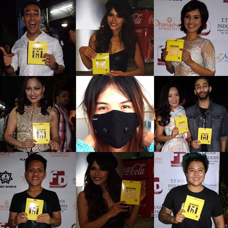 Nepali personalities promote Metro-Mask at the HOW FUNNY Premiere