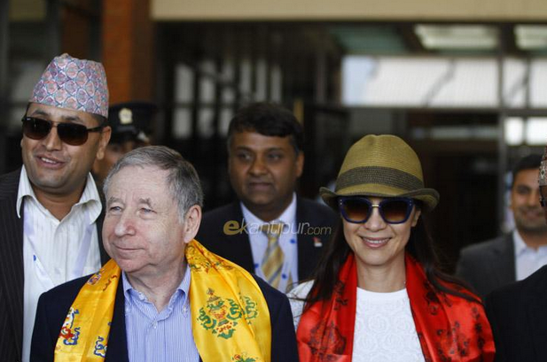 Michelle Yeoh with fiance Jean Todt