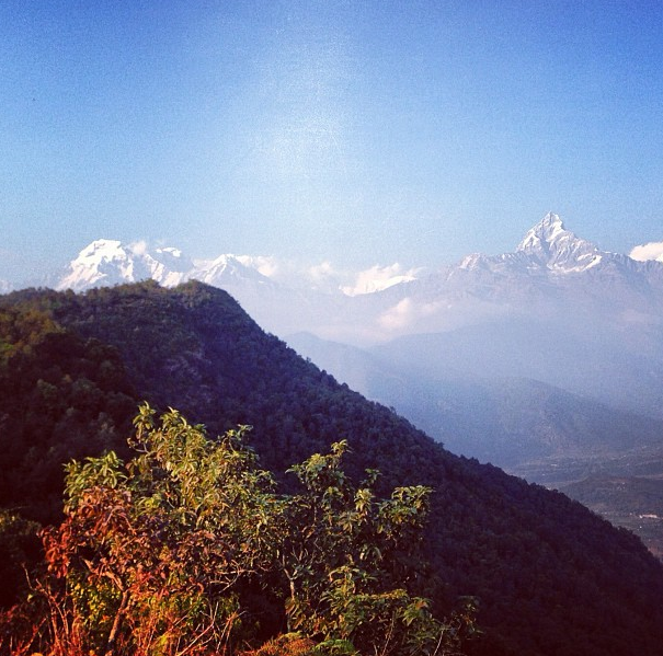 Mika (Instagram): The view from the guest house where I am staying near Pokhara in Nepal
