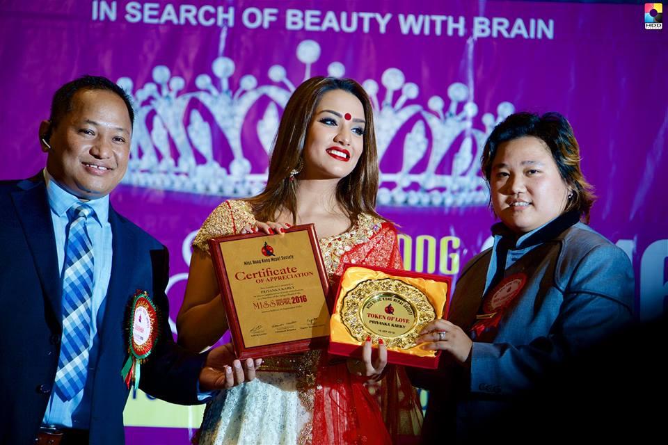 Actress Priyanka Karki receiving appreciation. Photo: HDD Studio HK Devman