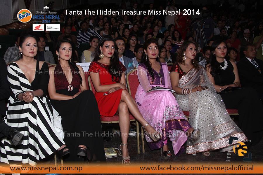 Former Miss Nepal winners Malvika Subba, Sadichha Shrestha, Malina Joshi, Sugarika KC, Ruby Rana and Zenisha Moktan