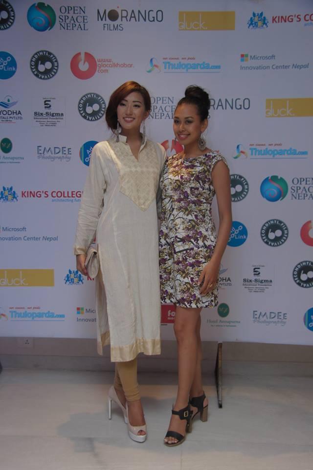 Miss Nepal Subin Limbu and Miss Nepal Earth Prinsha Shrestha