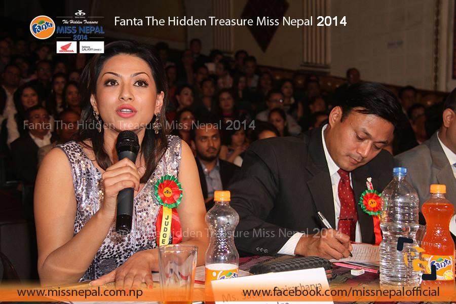 Former Miss Nepal Sahana Bajracharya as the judge