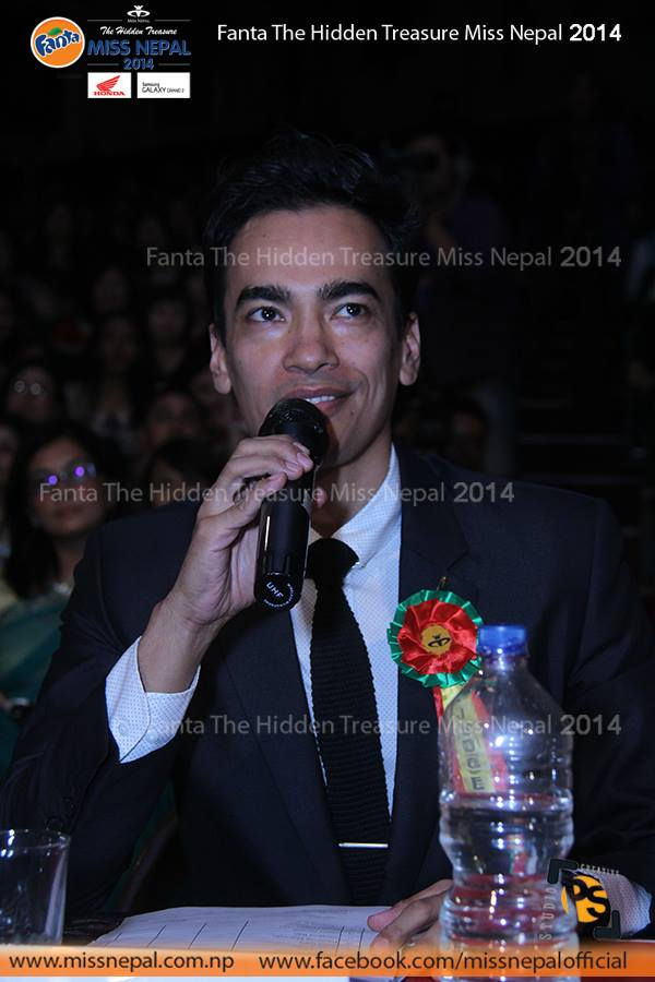 Former Manhunt Nepal winner Suhrid Jyoti as the judge