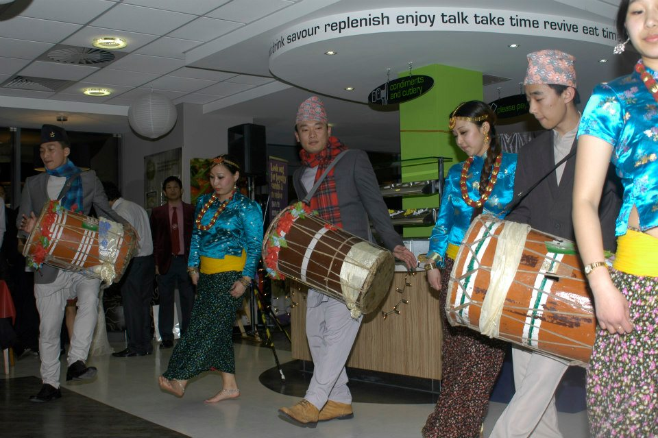 The Wales team performing the Limbu Chyabrung dance