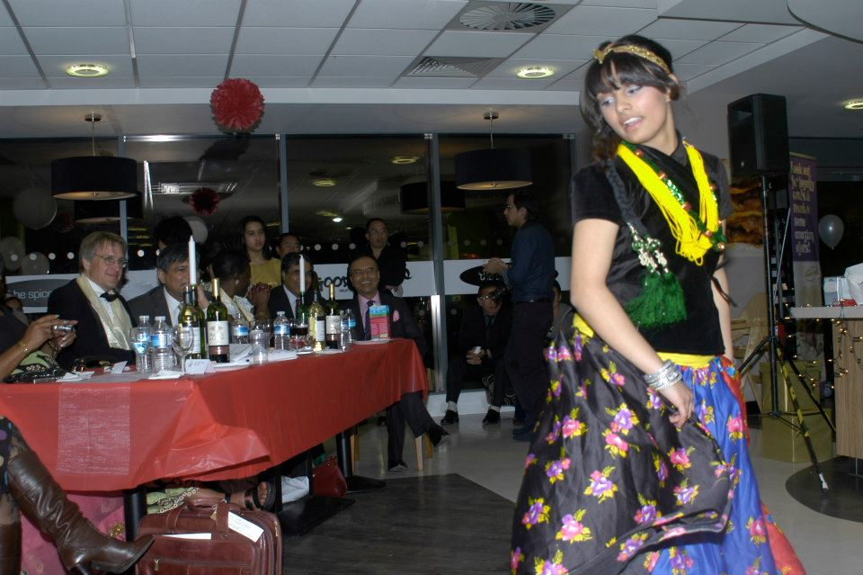 Pritha entertains the audience