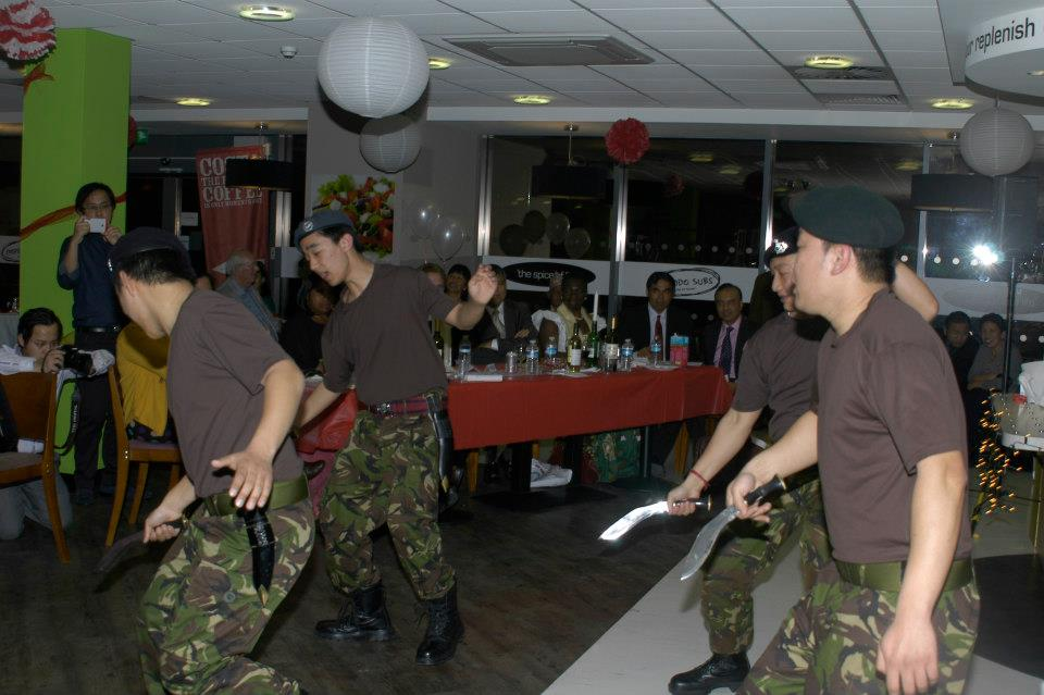 The boys from Wales keep the Gurkha spirits alive!