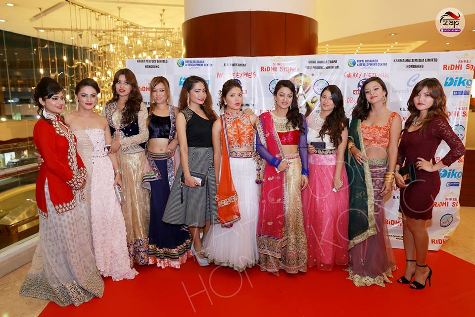 The Nepali cinema ladies! Photo: ZapStudio