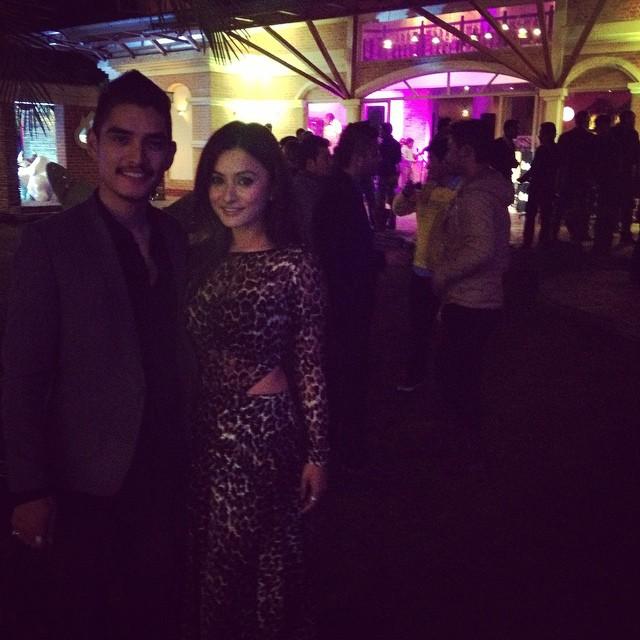 Namrata with ZHIGRANA actor Nikun Shrestha