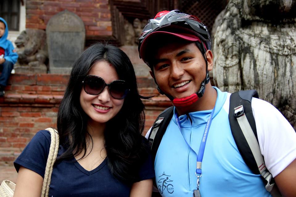 Namrata Shrestha with Amir Joshi
