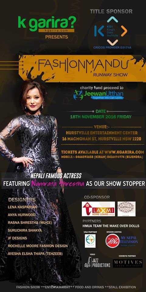 Namrata-Shrestha-Fashionmandu-Poster