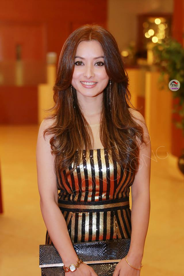 Namrata Shrestha - wearing Tenzin Tseten Bhutia. Photo: ZapStudio