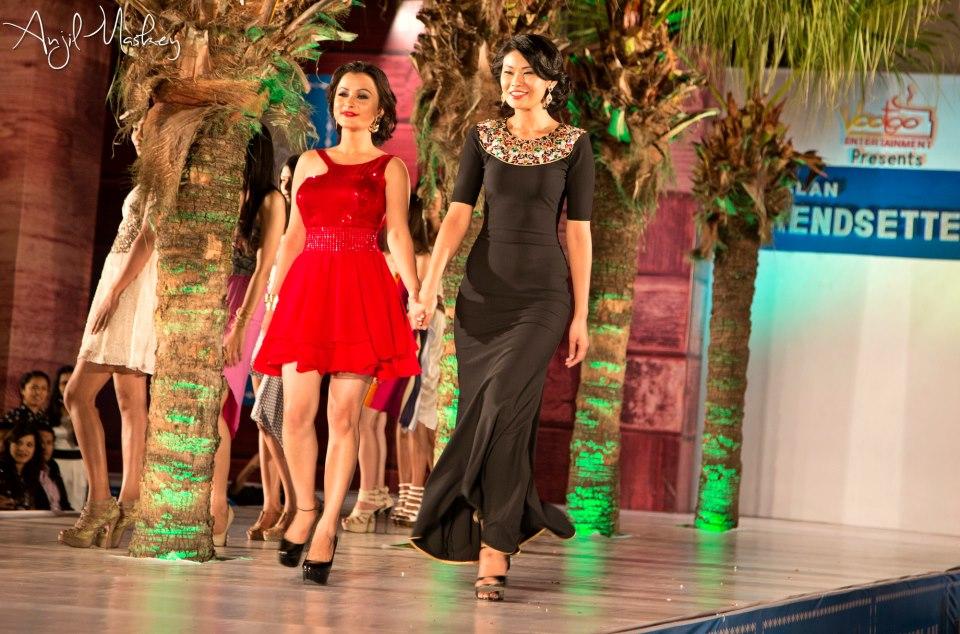 Walking down with designer Bina Ghale