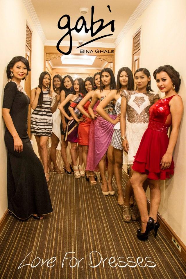 Designer Bina Ghale with her models