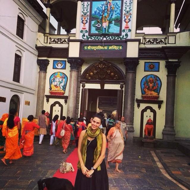 Neha Dhupia Pashupatinath