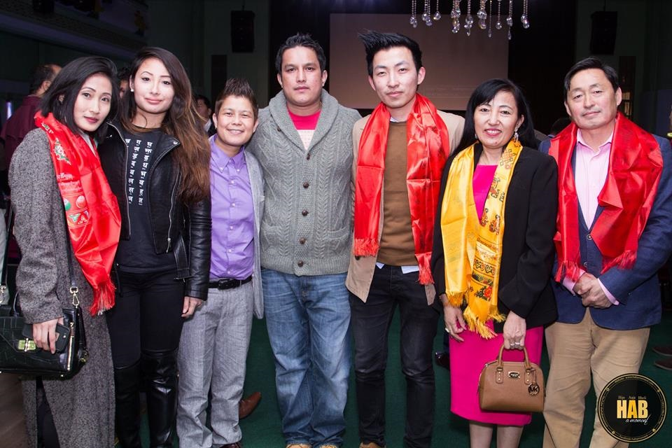 With my family and organizers Biren Khadka and Shanti Gurung in the middle.