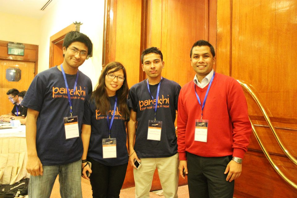 Parakhi Team - Suman, Dechen, Salangkar and Nirmal at the recent Pivot Mobile App Competition