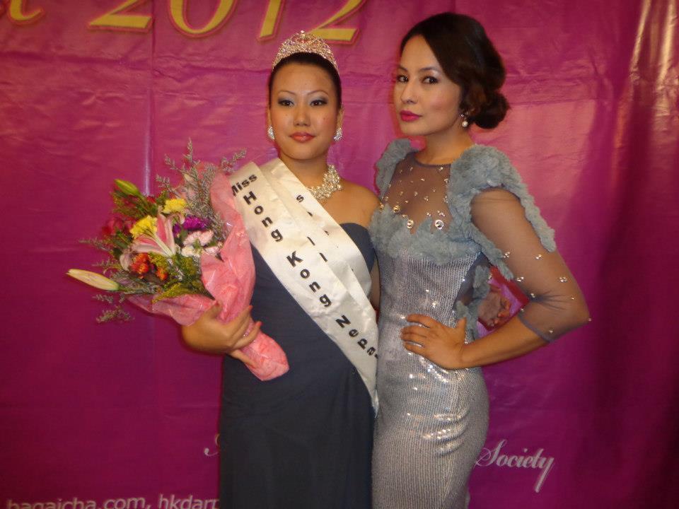 Miss Hong Kong Nepal 2012 Parina Subba with Malvika Subba