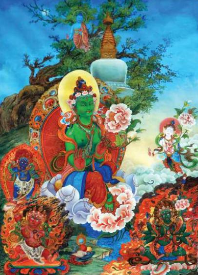 'Goddess Green Tara' by Prem Man Chitrakar