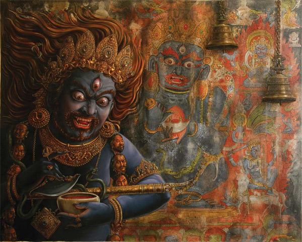 'Lord Mahakaal' by Samudra Man Shrestha