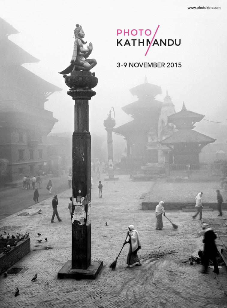Photo Kathmandu Poster.  Photo by Kevin Bubriski.