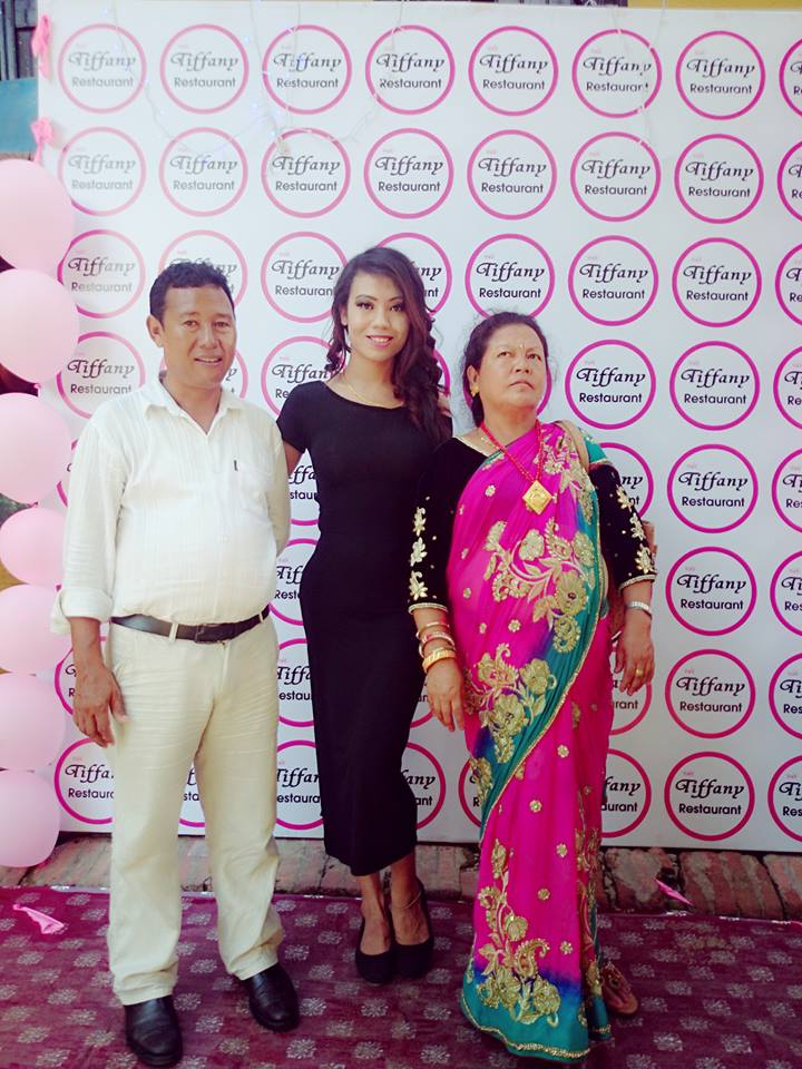 Megha with her parents