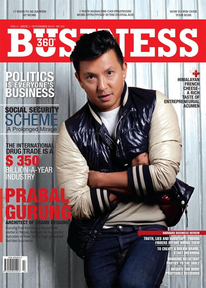 Prabal Gurung on BUSINESS 360, November 2013.