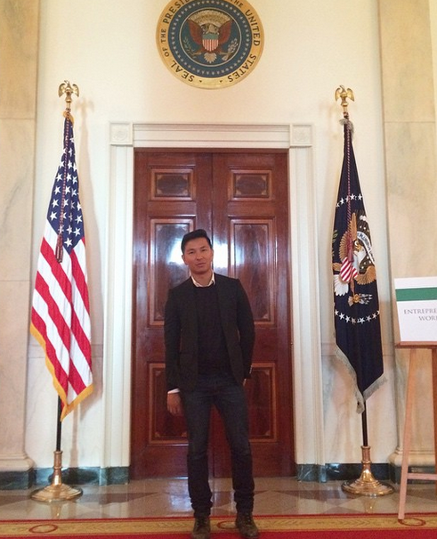 Always an honour to be at The White House. Especially today, to be part of @flotus 1st-ever #fashionEdu panel as part of her @ReachHigher initiative was a privilege. Thank you @michelleobama @whitehouse for this opportunity to share our stories with the students. (Instagram: @prabalgurung)