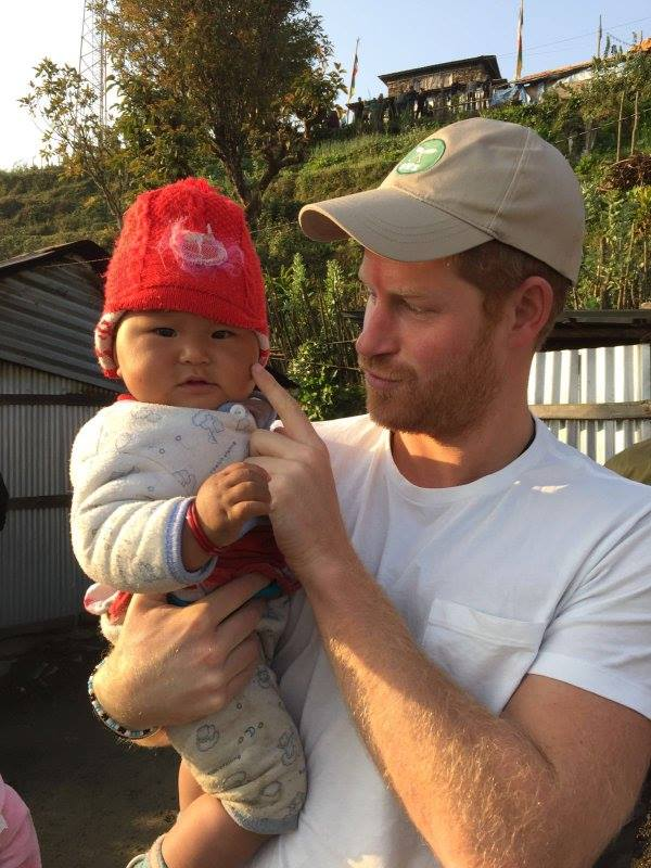 The most recent photo of the Prince from Leorani village with Team Rubicon UK