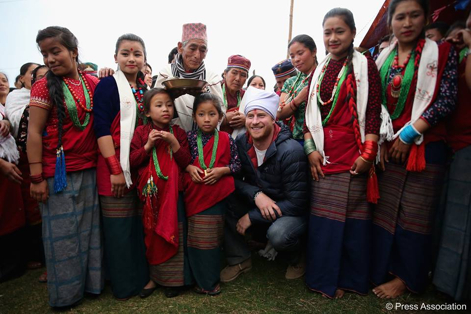 Lamjung locals with Harry