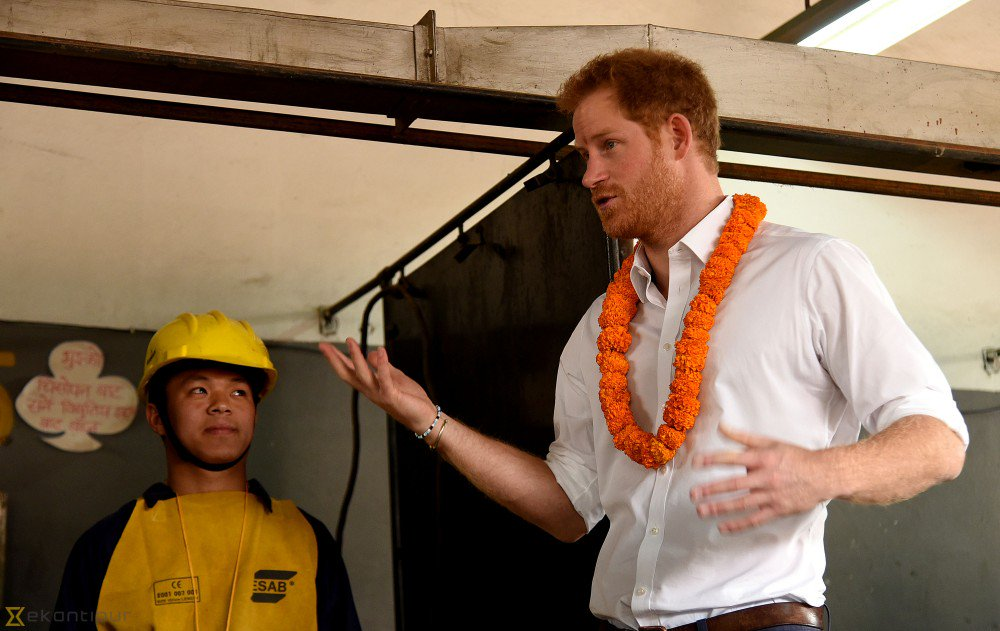 Harry's visit to a technical college funded by DFID