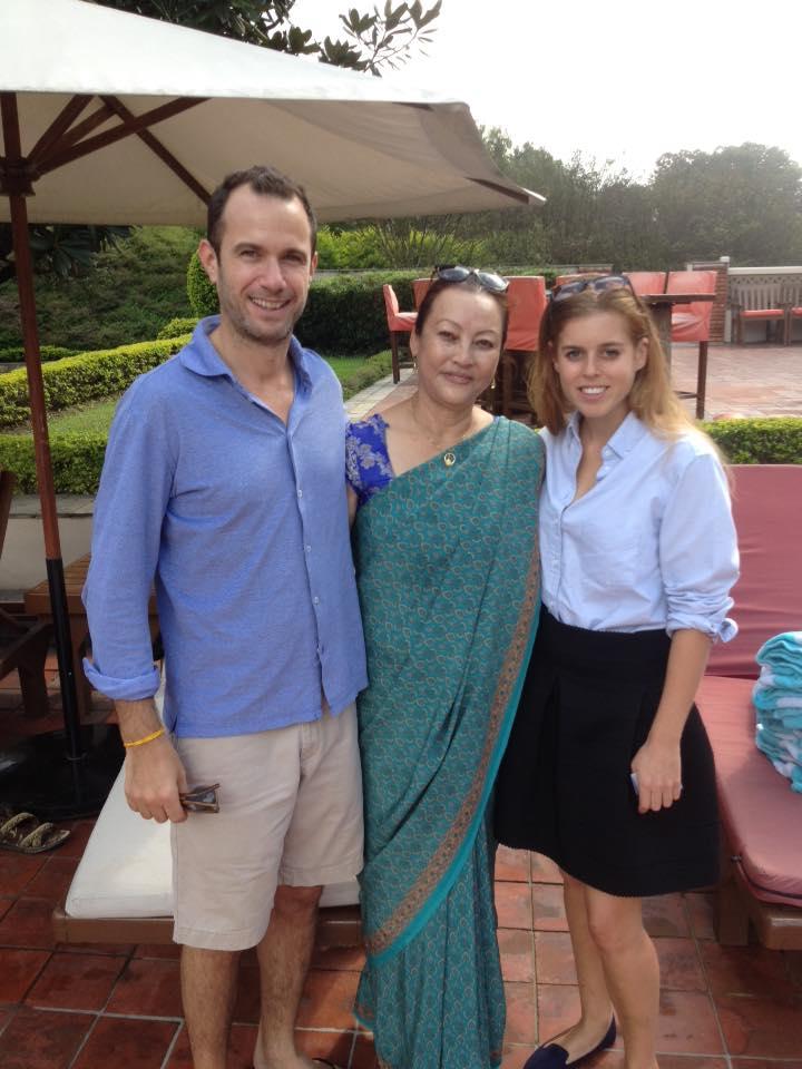 Founder of Muskan Sewa, Bhuwan Rai, Simon and Princess Beatrice