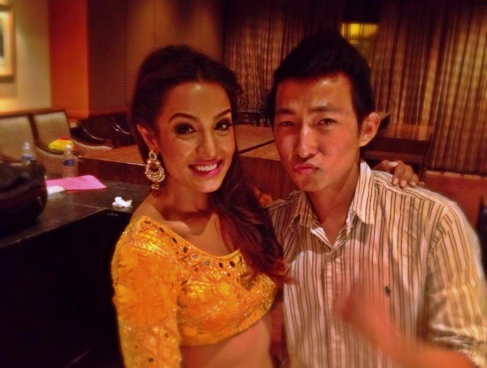 With Miss Karki straight after her performance