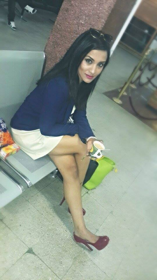 Priyanka Karki waiting at the TIA Domestic Terminal, Feb 7.  Photo: Priyanka Karki Facebook