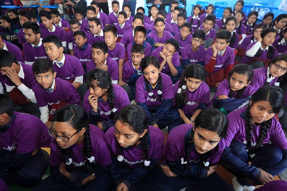 Purple-My-School-Campaign-Nepal
