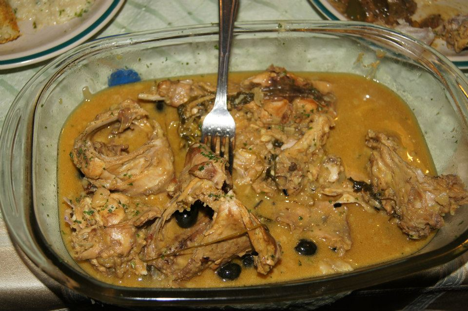 Rabbit Dish Prepared in French Style