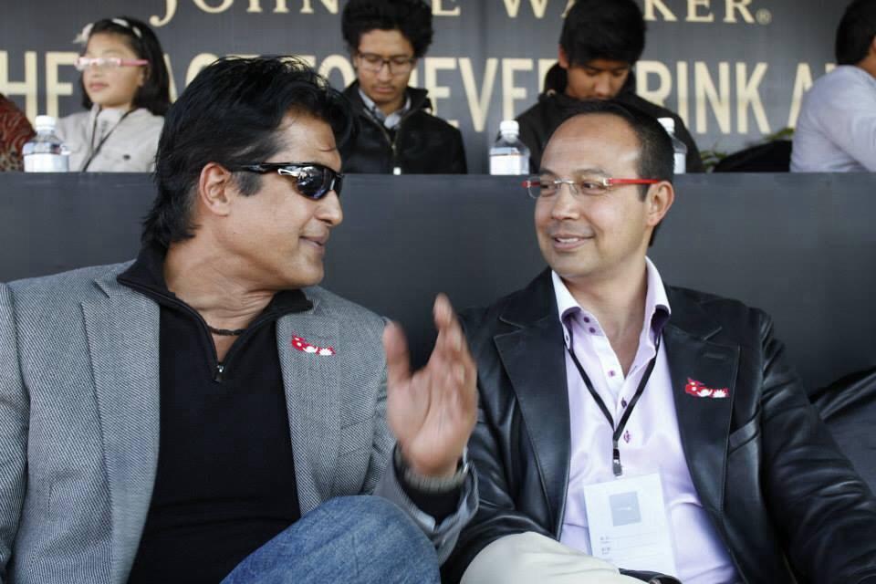Rajesh Hamal and Anil Shah