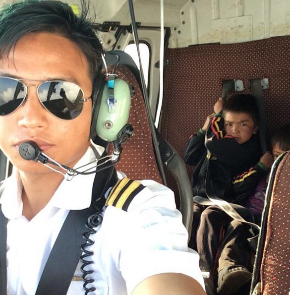 Ranjan-Limbu-Helicopter-Pilot-Nepal-Children