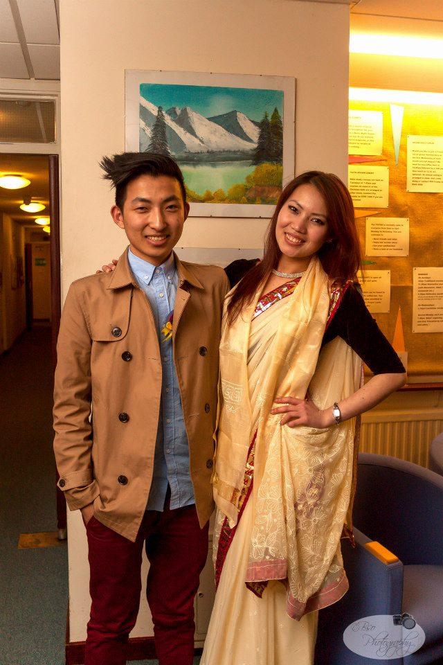 With the Durga Gurung