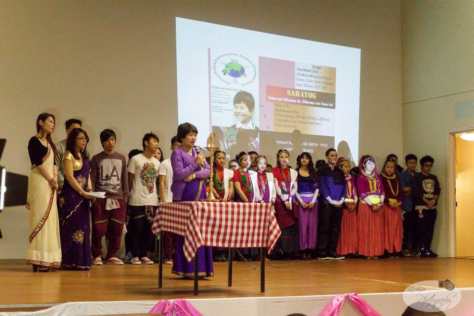 Dr Milan Adhikari and the performers