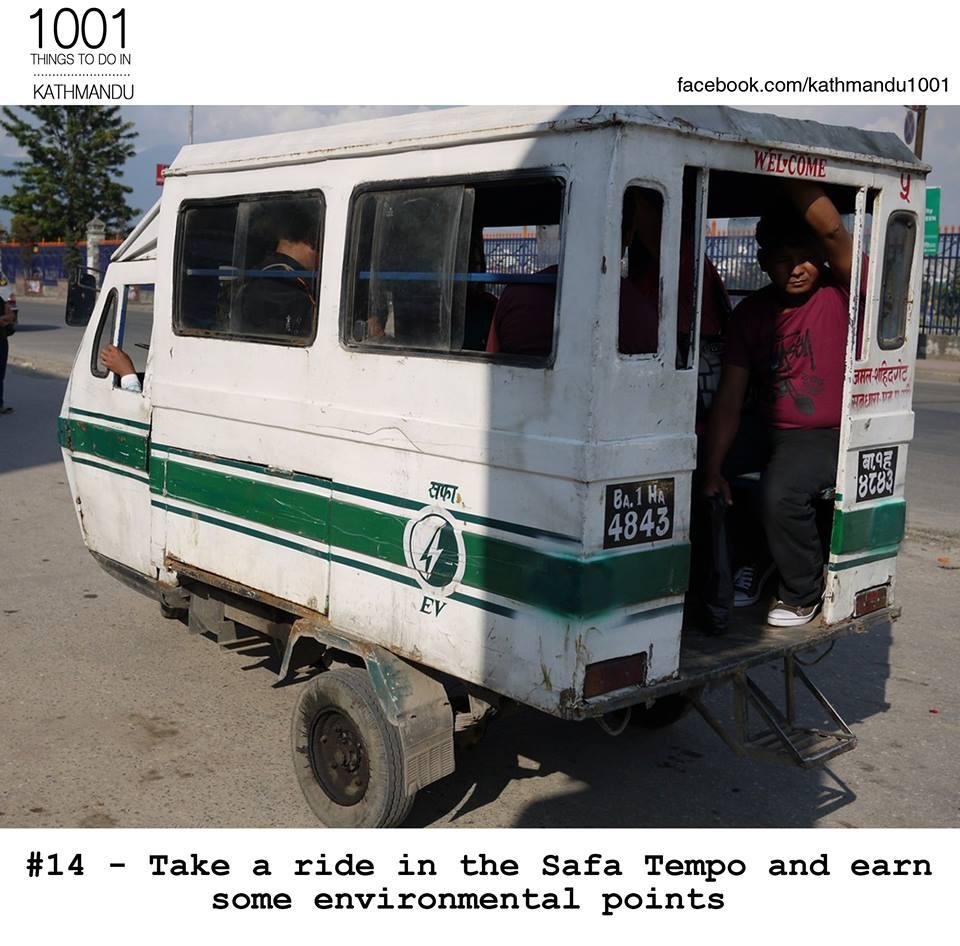 No 5! The Maharajgunj route! Affordable and environmentally friendly! #greenisthewaytogo