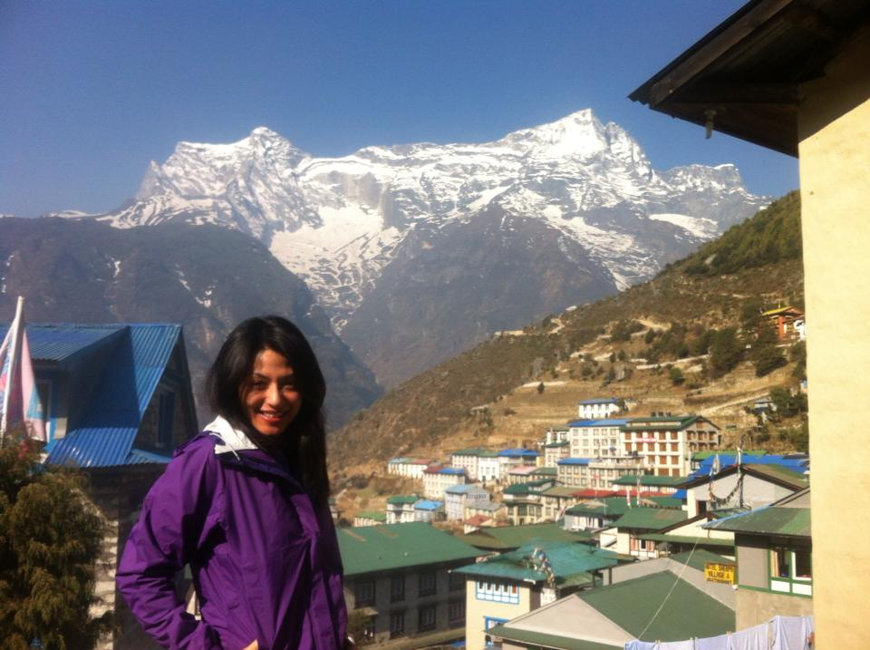 And that's the Peak Kongde smiling down at us .. Good morning folks!