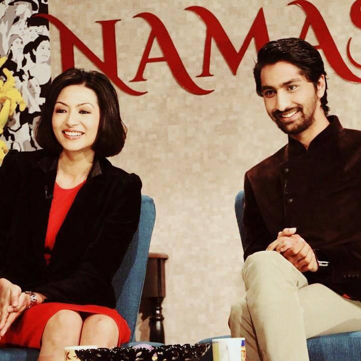Sahana-Bajracharya-Suraj-Giri-NAMASTE-TV-Show
