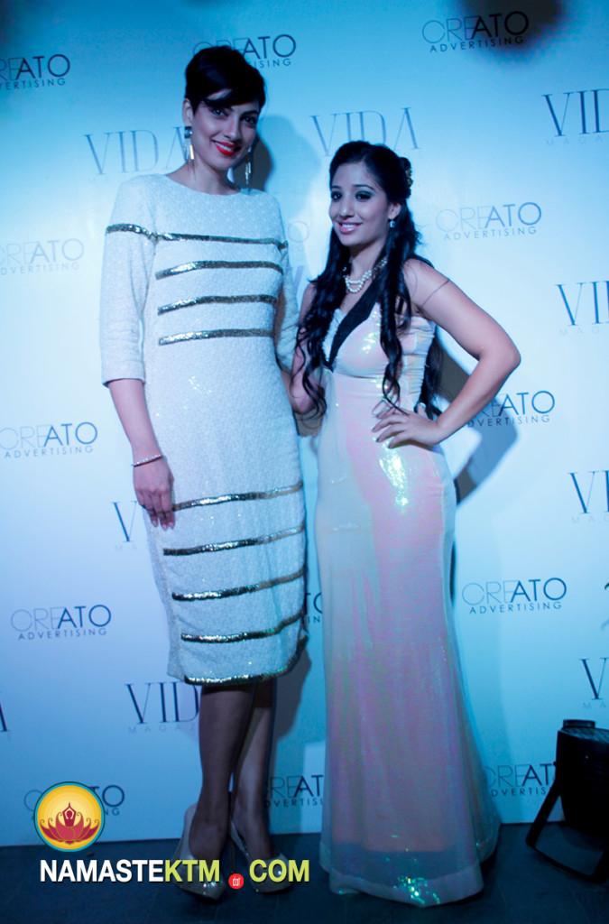 Former Miss World Yukta Mookhey with Shivangini Rana