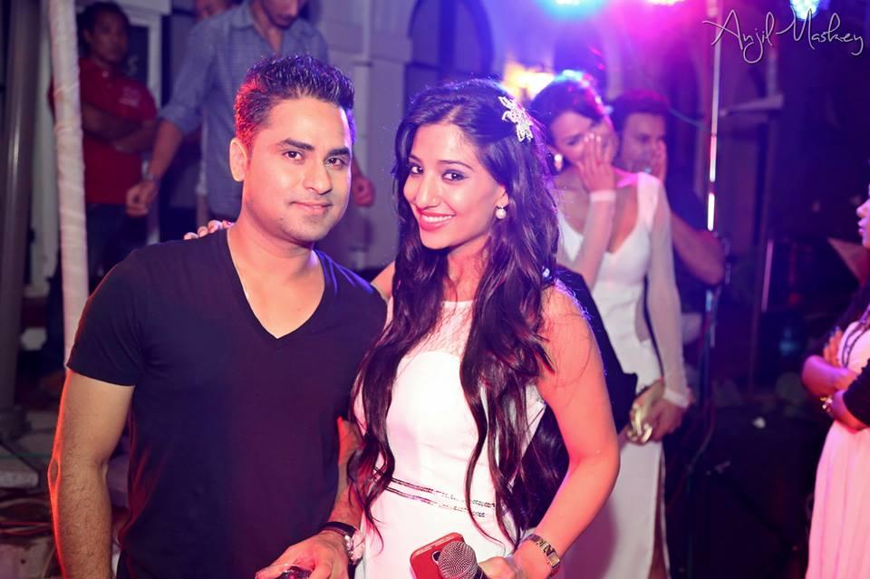 Shivangini Rana with designer Bishwo Gautam