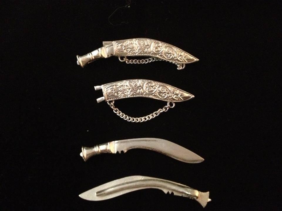 Silver Khukuri Special Gurkha Tie Pin Set