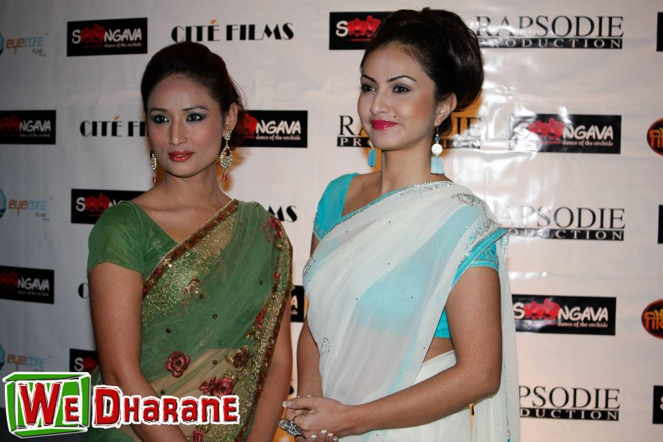 Dia Maskey and Nisha Adhikari at the Dharan Show