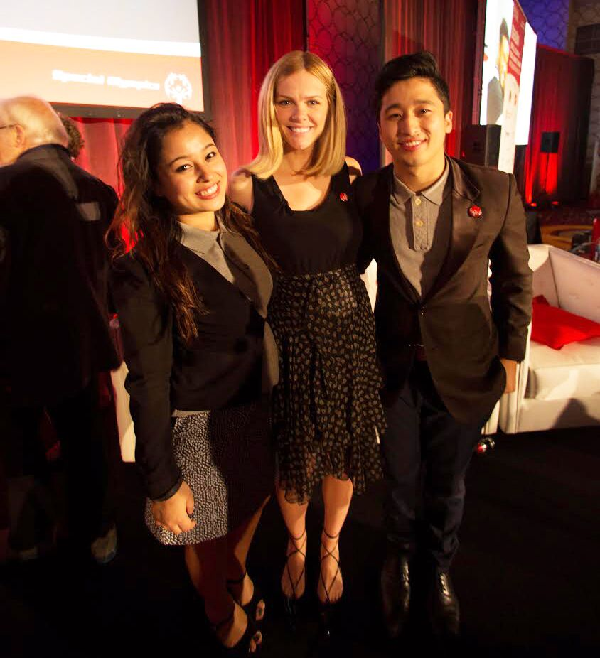 Kanchan and Jenish with Brooklyn Decker