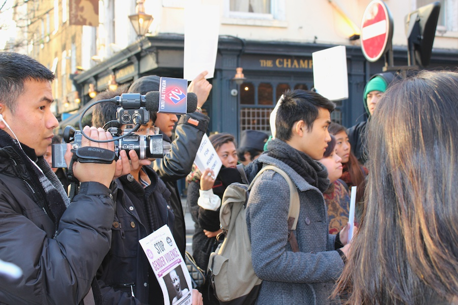 Nepali TV (UK) covering the event
